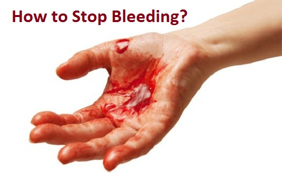 how to stop a cut from bleeding quickly