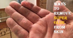 remove super glue from skin