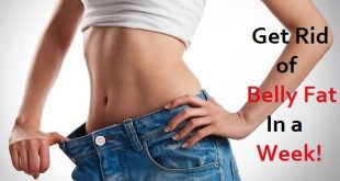 how to get rid of belly fat in a week