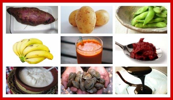 Foods with potassium