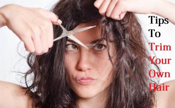 trim your own hair